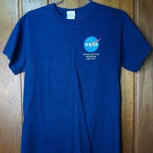 NASA Space Shuttle Program Cool Mens Womens Blue
